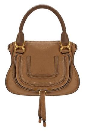 Женская сумка marcie small CHLOÉ светло-коричневого цвета, арт. CHC17WS928161   Фото 1