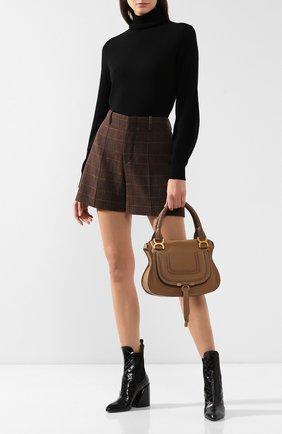 Женская сумка marcie small CHLOÉ светло-коричневого цвета, арт. CHC17WS928161   Фото 2