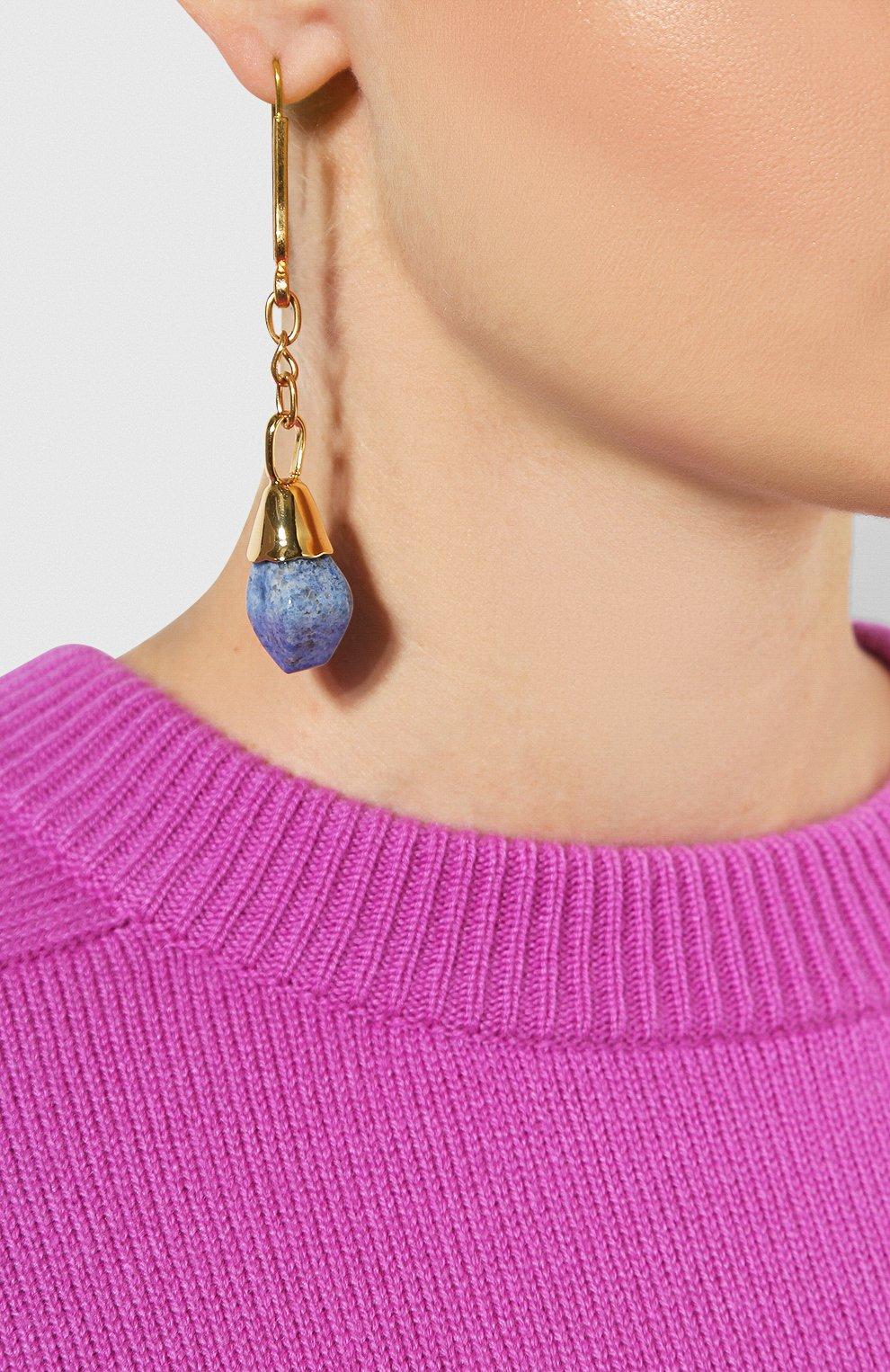 Женские серьги MARNI синего цвета, арт. 0RMV0105A0/PD000 | Фото 2