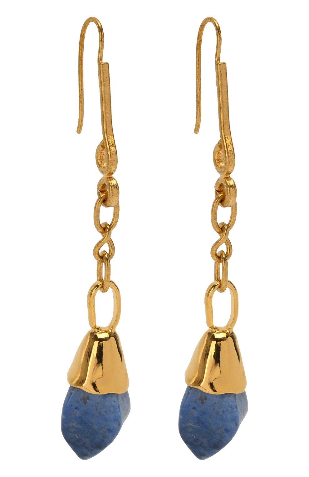 Женские серьги MARNI синего цвета, арт. 0RMV0105A0/PD000 | Фото 3