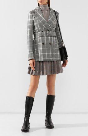 Женские кожаные сапоги SANTONI черного цвета, арт. WSEK58203SMCTNL0N01 | Фото 2