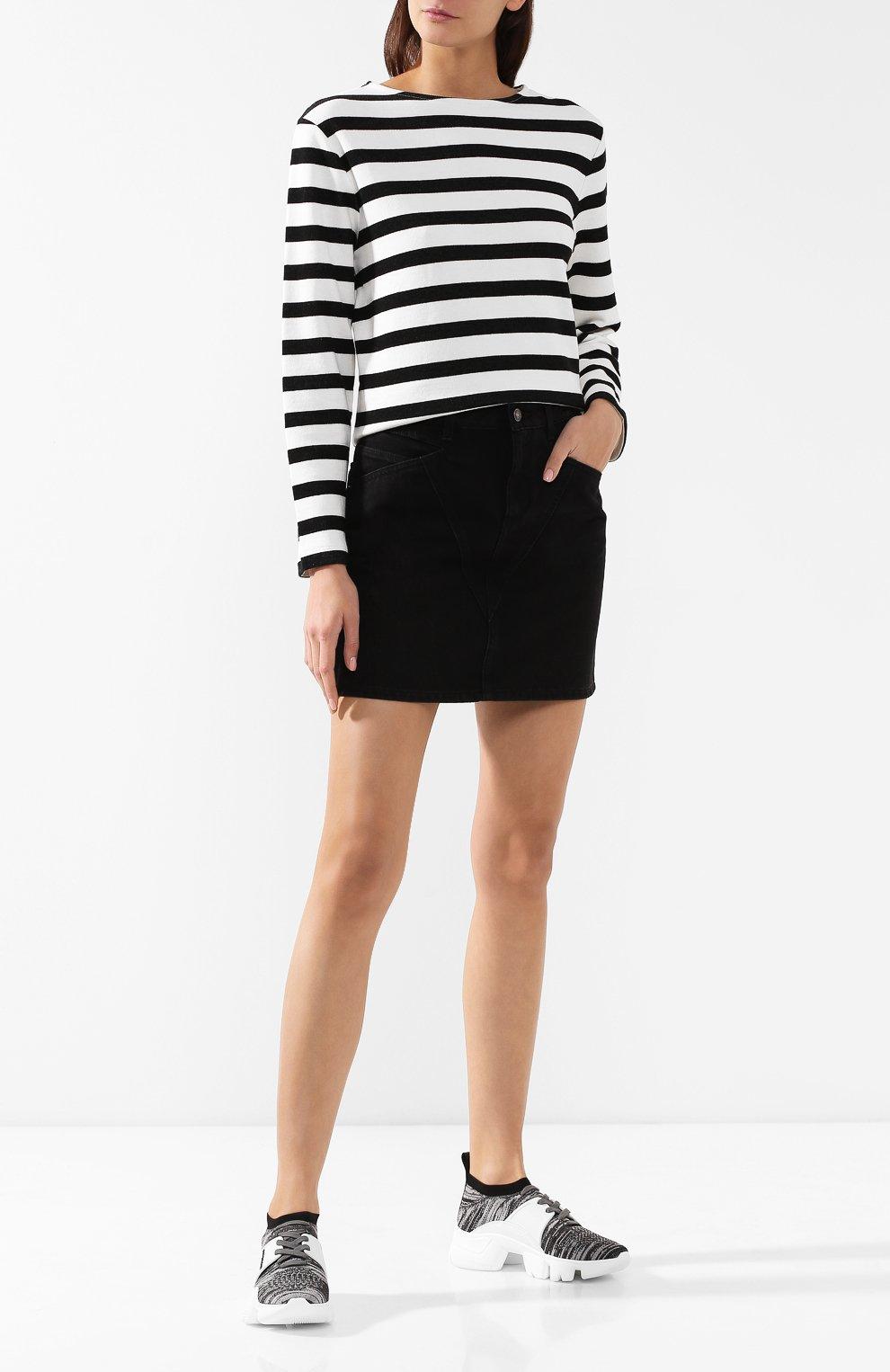 Текстильные кроссовки Jaw Givenchy серые   Фото №2