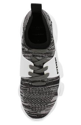 Текстильные кроссовки Jaw Givenchy серые   Фото №5