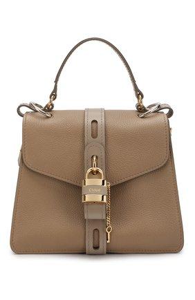 Женская сумка aby medium CHLOÉ серого цвета, арт. CHC19AS188B57   Фото 1