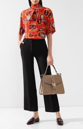 Женская сумка aby medium CHLOÉ серого цвета, арт. CHC19AS188B57   Фото 2
