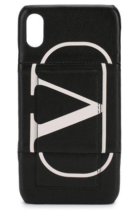 Мужской чехол для iphone xs max VALENTINO черного цвета, арт. SW2P0S59/KZQ | Фото 1