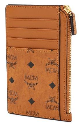 Женский футляр для кредитных карт MCM коричневого цвета, арт. MXA 7SVI41   Фото 2
