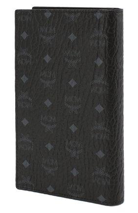 Женские обложка для паспорта MCM черного цвета, арт. MYV 8SVI50 | Фото 2