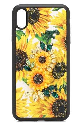 Мужской чехол для iphone xs max DOLCE & GABBANA желтого цвета, арт. BI2515/AA591 | Фото 1
