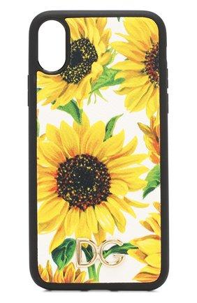 Мужской чехол для iphone x/xs DOLCE & GABBANA желтого цвета, арт. BI2408/AA590 | Фото 1