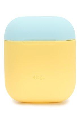 Чехол для airpods ELAGO желтого цвета, арт. EAPDO-YE-WHPBL   Фото 1 (Статус проверки: Проверена категория)