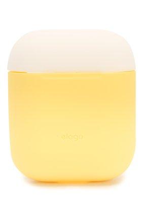 Чехол для airpods ELAGO желтого цвета, арт. EAPDO-YE-WHPBL   Фото 2 (Статус проверки: Проверена категория)
