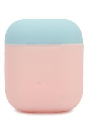 Чехол для airpods ELAGO розового цвета, арт. EAPDO-PK-WHPBL   Фото 1 (Статус проверки: Проверена категория)