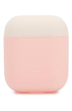 Чехол для airpods ELAGO розового цвета, арт. EAPDO-PK-WHPBL   Фото 2 (Статус проверки: Проверена категория)