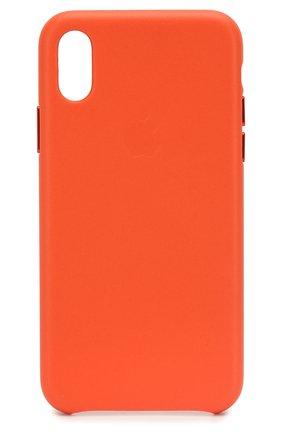 Мужской чехол для iphone x/xs APPLE оранжевого цвета, арт. MVFQ2ZM/A | Фото 1