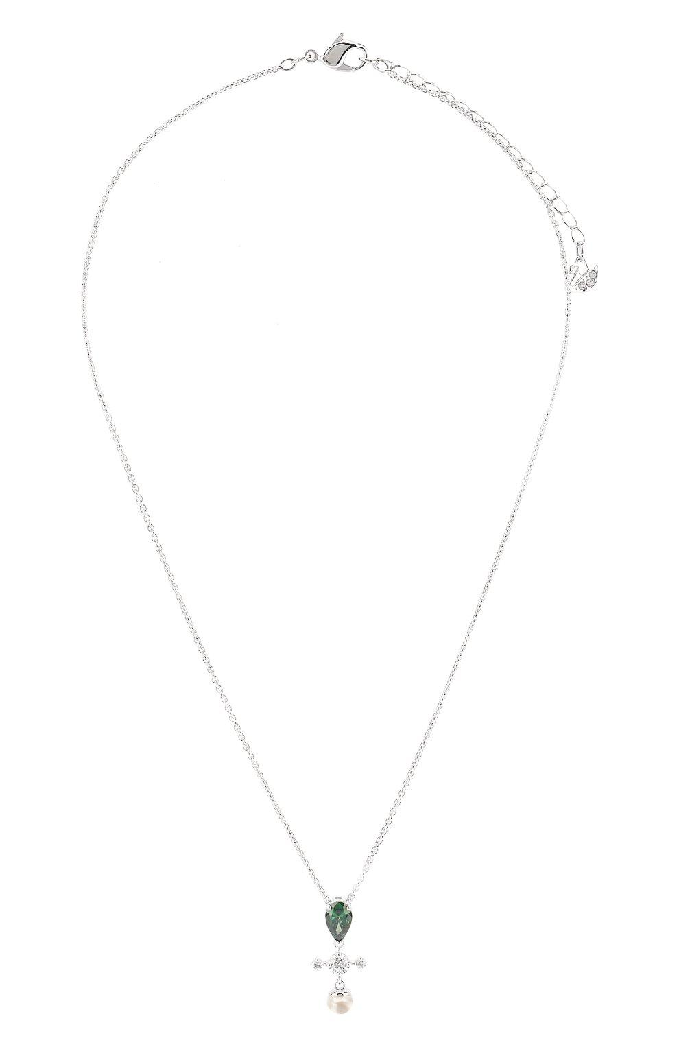 Женская подвеска perfection SWAROVSKI серебряного цвета, арт. 5493103 | Фото 1
