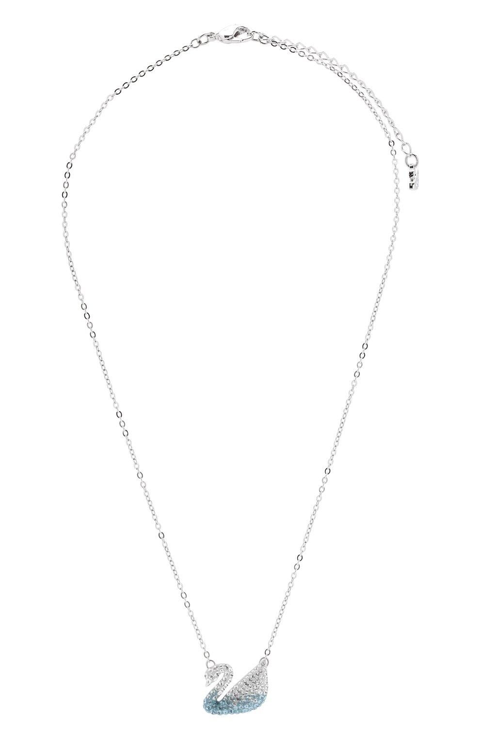 Женская подвеска iconic swan SWAROVSKI серебряного цвета, арт. 5512095 | Фото 1