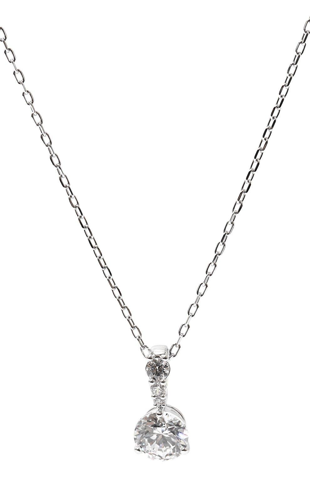 Женская подвеска solitaire SWAROVSKI серебряного цвета, арт. 5472635 | Фото 3