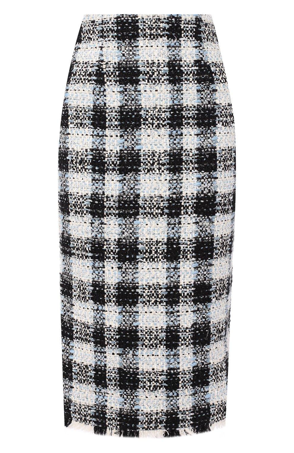 Женская юбка ALEXANDER MCQUEEN синего цвета, арт. 585990/QEAAR | Фото 1