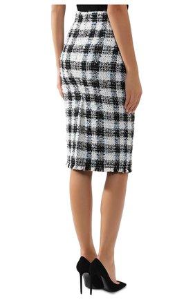 Женская юбка ALEXANDER MCQUEEN синего цвета, арт. 585990/QEAAR | Фото 4