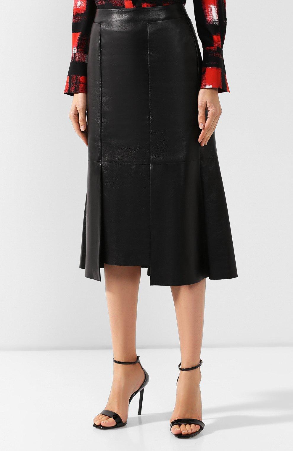 Кожаная юбка   Фото №3