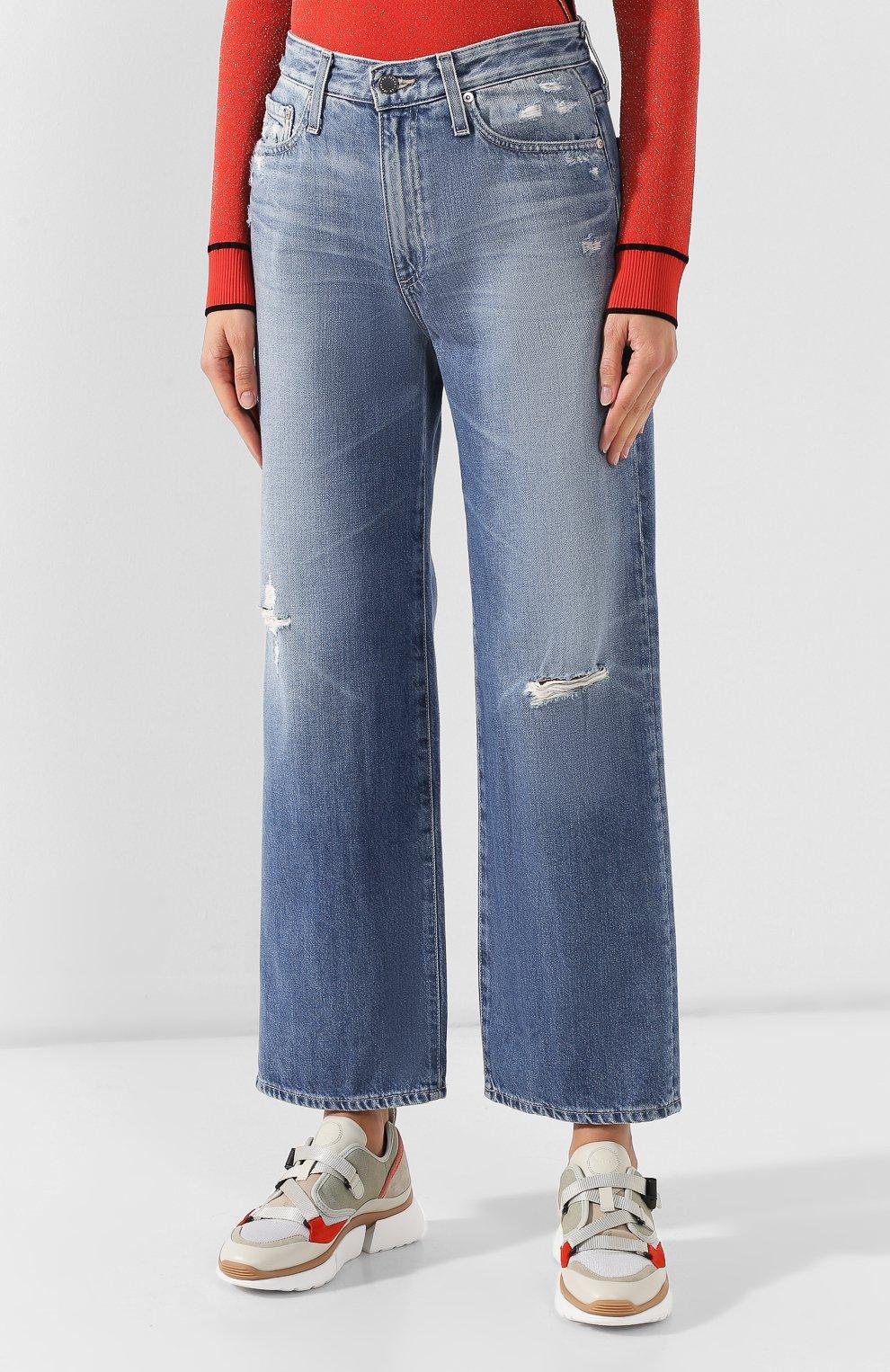 Женские джинсы AG голубого цвета, арт. HRD1899/20YHSU | Фото 3
