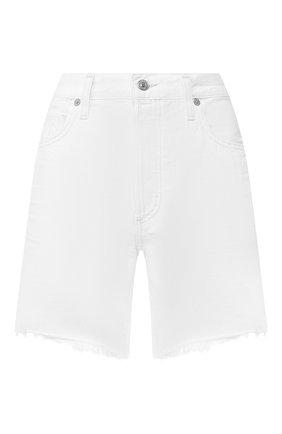 Женские джинсовые шорты CITIZENS OF HUMANITY белого цвета, арт. 997-1114 | Фото 1