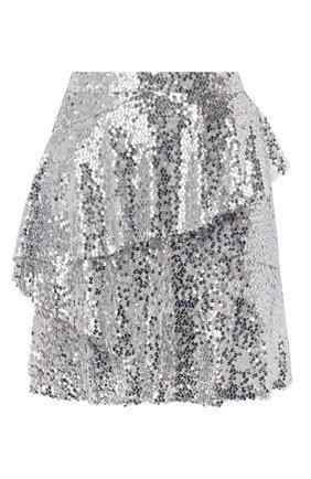 Женская юбка с пайетками IN THE MOOD FOR LOVE серебряного цвета, арт. ANGEL SKIRT | Фото 1