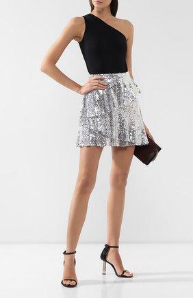 Женская юбка с пайетками IN THE MOOD FOR LOVE серебряного цвета, арт. ANGEL SKIRT | Фото 2