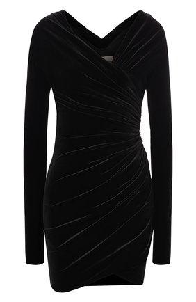 Женское бархатное платье ALEXANDRE VAUTHIER черного цвета, арт. 193DR1102 0193-1144   Фото 1