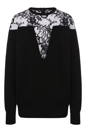 Пуловер из вискозы Givenchy черный | Фото №1