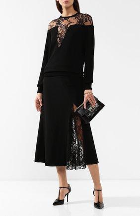 Пуловер из вискозы Givenchy черный | Фото №2