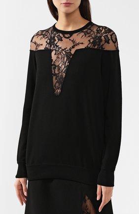 Пуловер из вискозы Givenchy черный | Фото №3