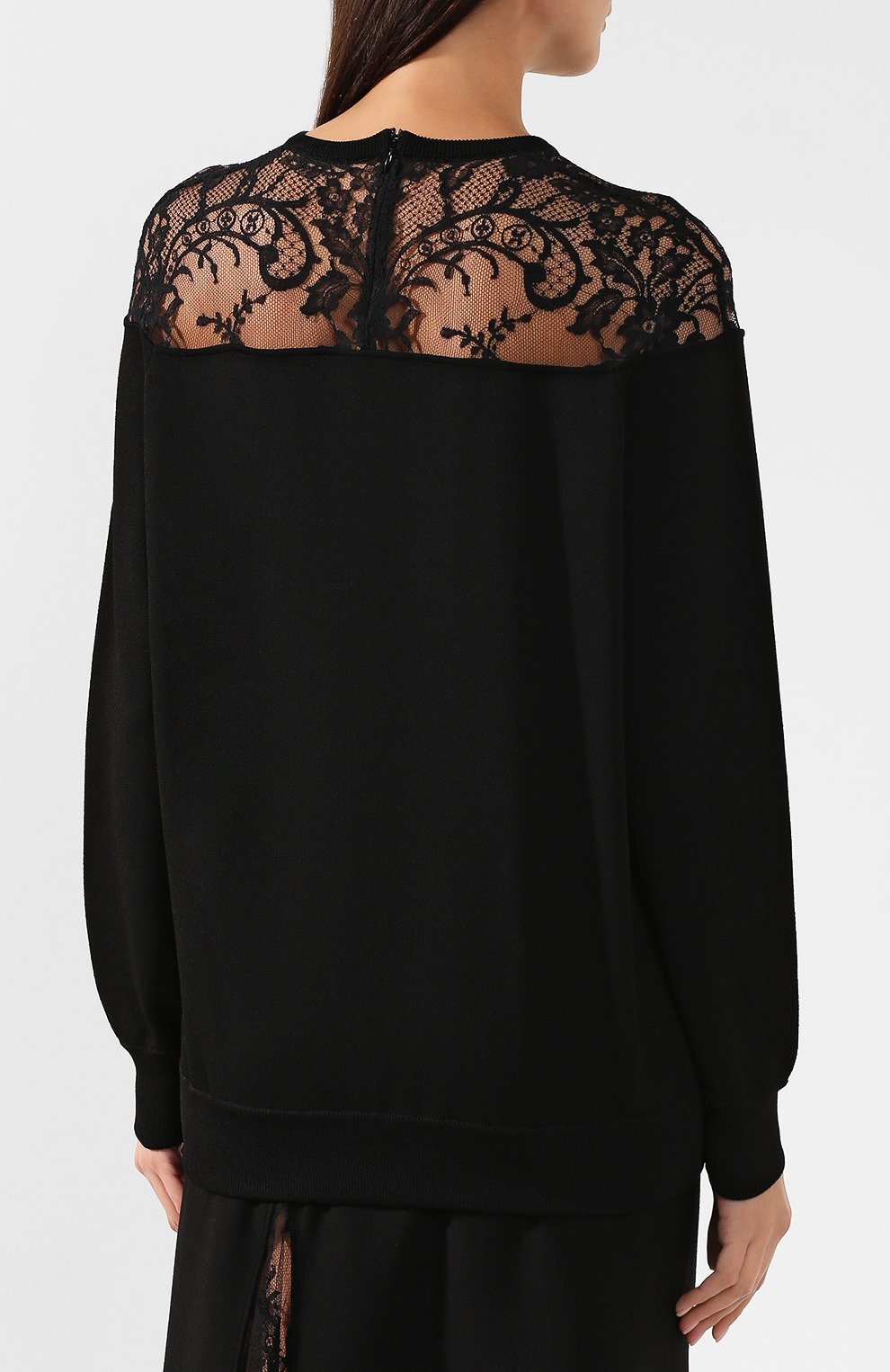 Пуловер из вискозы Givenchy черный | Фото №4