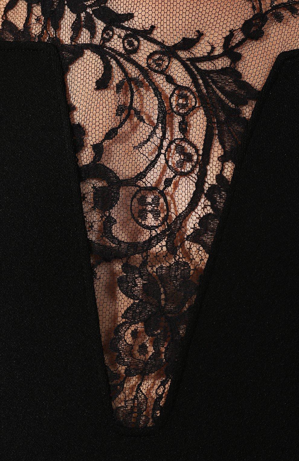 Пуловер из вискозы Givenchy черный | Фото №5