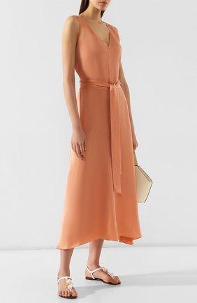 Женское платье с поясом FORTE_FORTE розового цвета, арт. 6544 | Фото 2