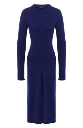 Женское шерстяное платье JOSEPH синего цвета, арт. JF003327 | Фото 1