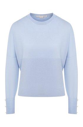 Женская пуловер из смеси шерсти и шелка STELLA MCCARTNEY голубого цвета, арт. 564715/S2087 | Фото 1