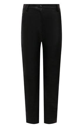 Женские брюки STELLA MCCARTNEY черного цвета, арт. 543858/SJB14 | Фото 1 (Материал внешний: Вискоза, Синтетический материал; Статус проверки: Проверена категория; Женское Кросс-КТ: Брюки-одежда; Силуэт Ж (брюки и джинсы): Прямые; Длина (брюки, джинсы): Укороченные)