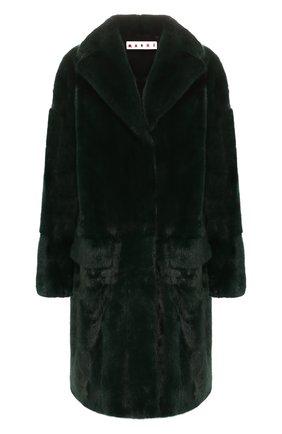 Женская шуба из меха норки MARNI зеленого цвета, арт. CPMNS12MQ3/P2335 | Фото 1