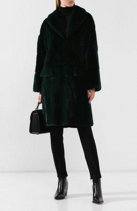 Женская шуба из меха норки MARNI зеленого цвета, арт. CPMNS12MQ3/P2335 | Фото 2