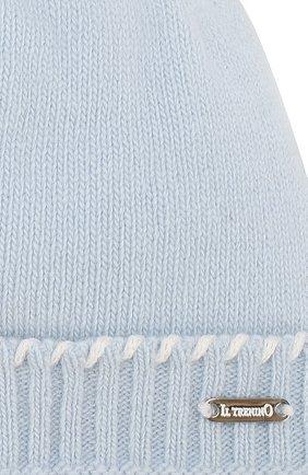 Детского шапка из шерсти и кашемира IL TRENINO голубого цвета, арт. 19 6330/E0 | Фото 3