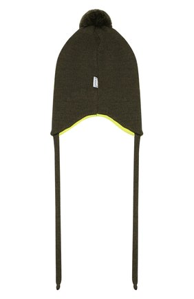 Детского шерстяная шапка IL TRENINO хаки цвета, арт. 19 6211/E2 | Фото 2