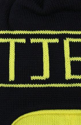 Детского шерстяная шапка IL TRENINO темно-синего цвета, арт. 19 6211/E2 | Фото 3
