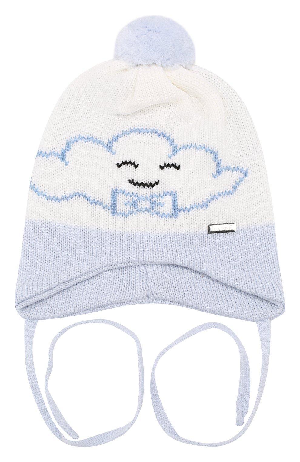 Детского шерстяная шапка IL TRENINO голубого цвета, арт. 19 5835/E0   Фото 1