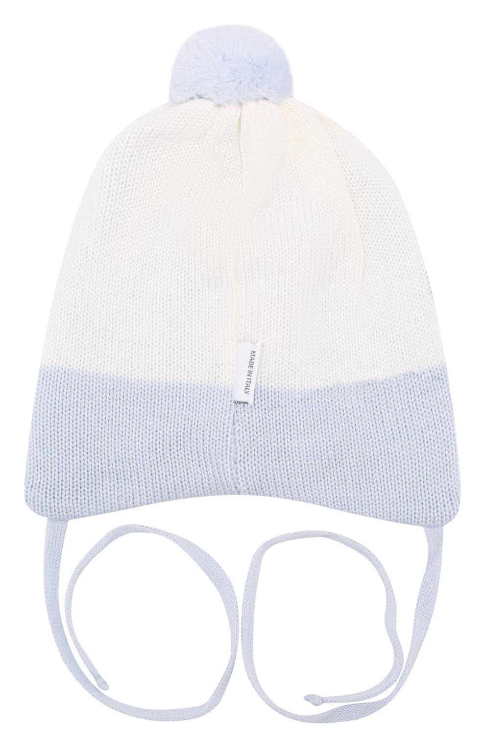 Детского шерстяная шапка IL TRENINO голубого цвета, арт. 19 5835/E0   Фото 2