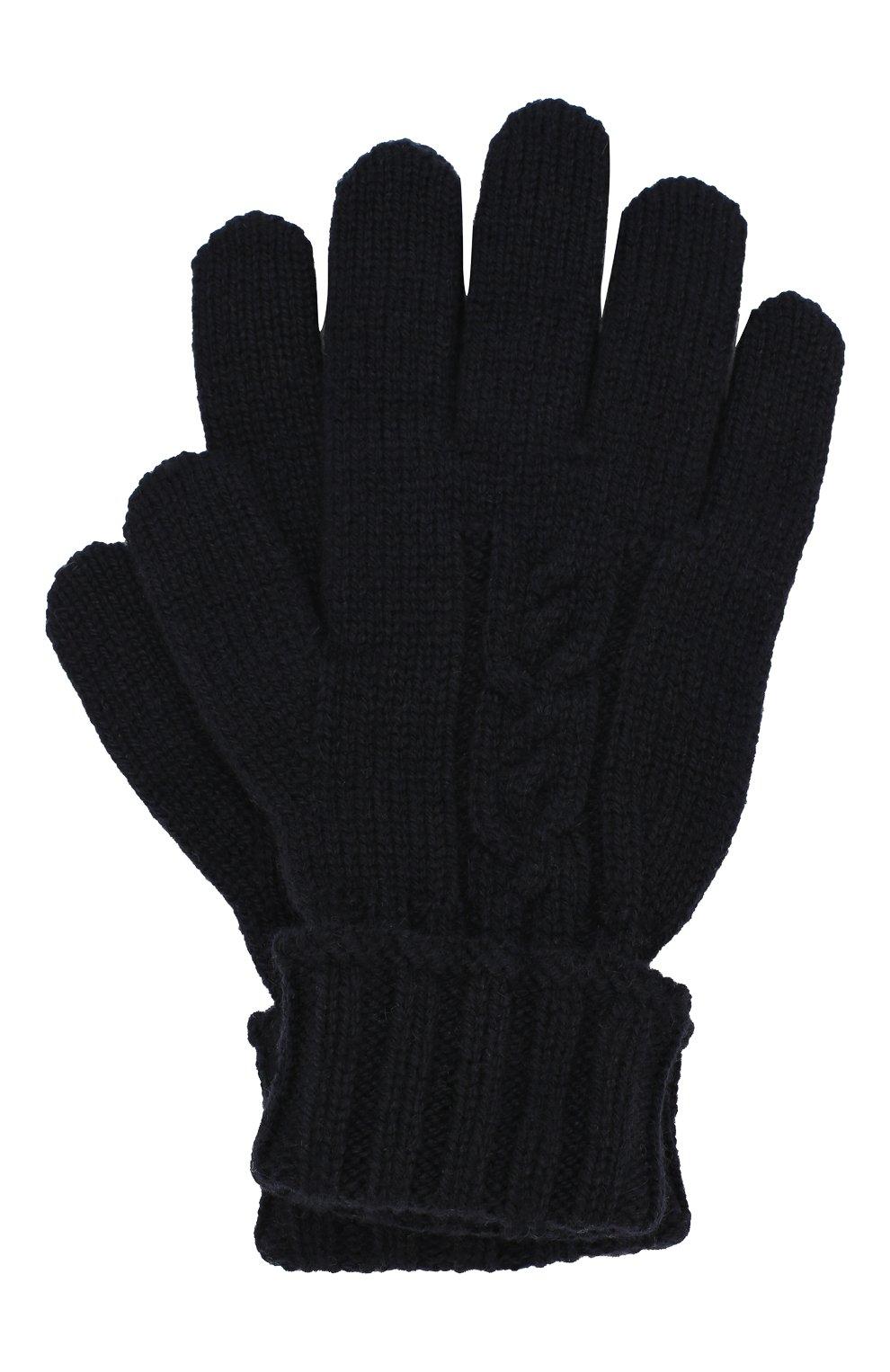 Детские кашемировые перчатки LORO PIANA темно-синего цвета, арт. FAI7332   Фото 1