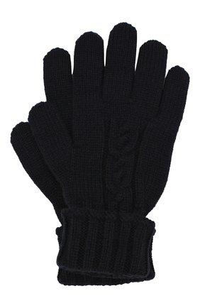 Детские кашемировые перчатки LORO PIANA темно-синего цвета, арт. FAI7332 | Фото 1