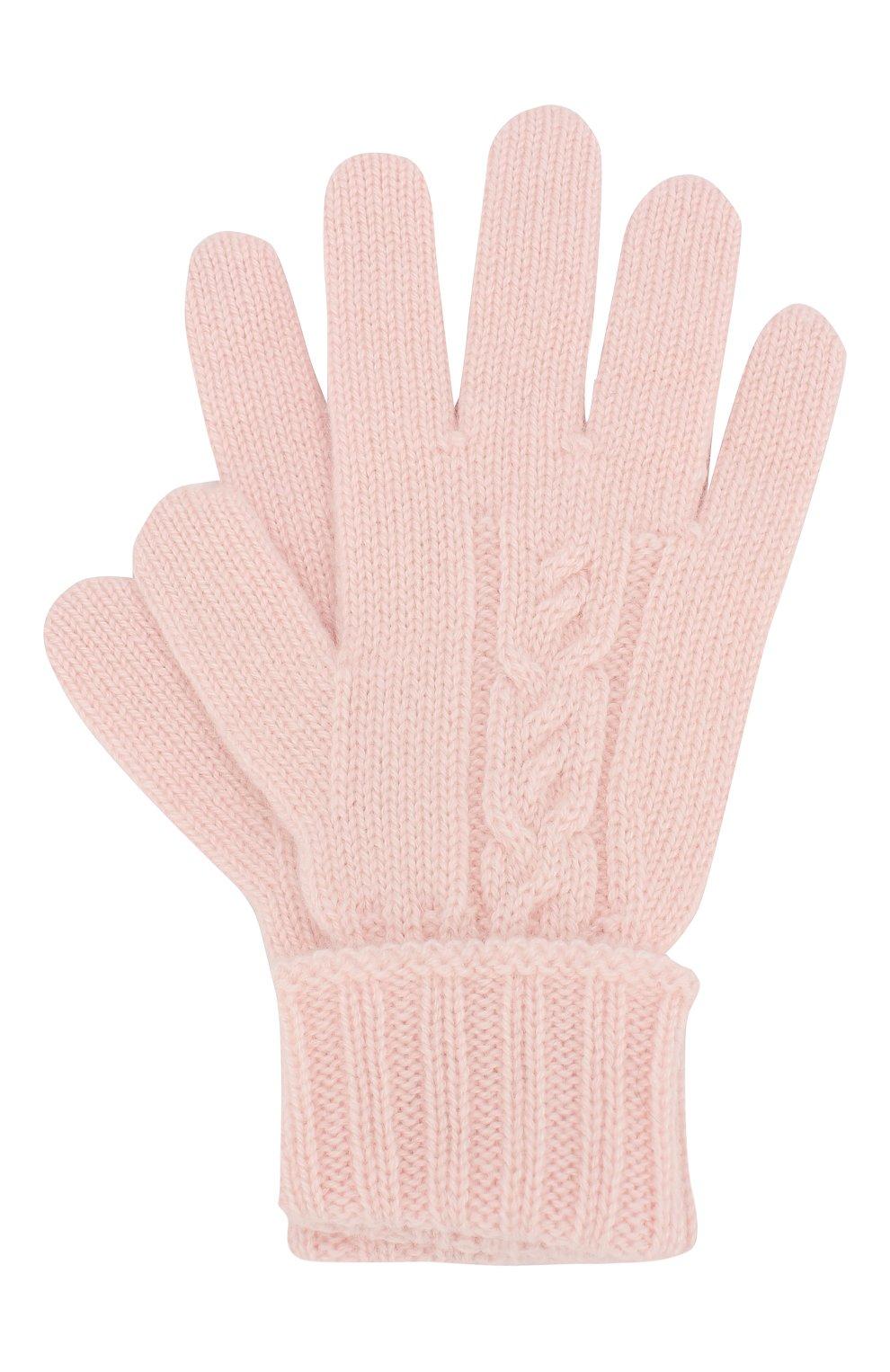 Детские кашемировые перчатки LORO PIANA светло-розового цвета, арт. FAI7332 | Фото 1