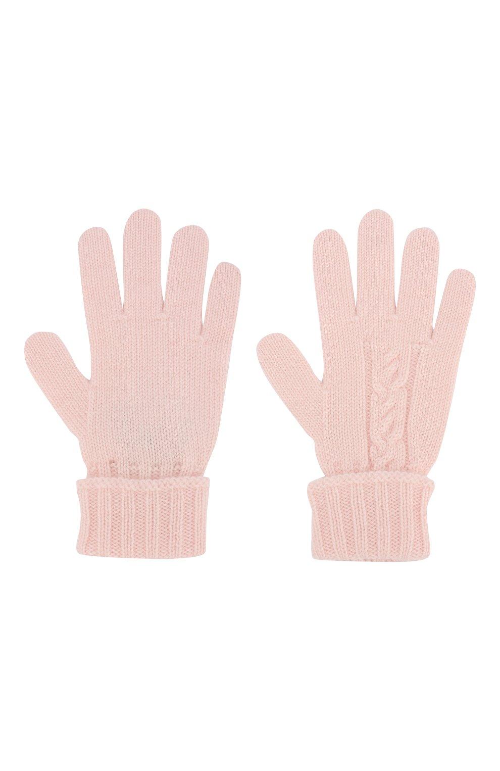 Детские кашемировые перчатки LORO PIANA светло-розового цвета, арт. FAI7332 | Фото 2